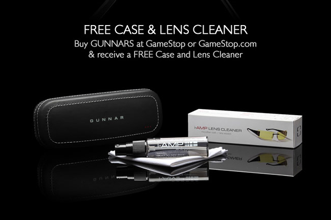 gunnar gamestop free case and cleaner